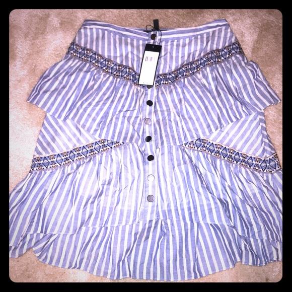 BCBGMaxAzria Dresses & Skirts - NWT BCBGMaxAzria Tribal Print Button Skirt